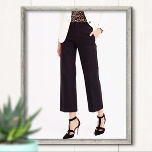 J Crew Straight Wide Leg Cropped Patio Pant Size 6